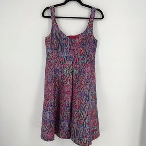 Nanette Lepore Machu Picchu Printed Fit and Flare